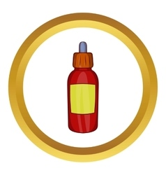 Refill bottle with pipette icon vector