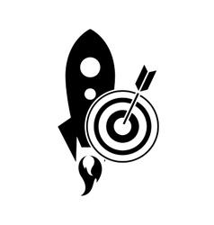 Rocket and bullseye icon vector