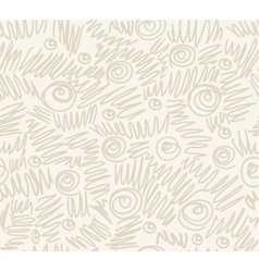 Seamless abstract hand-drawn waves pattern wavy vector image