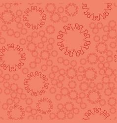 Seamless terrcota flower mandala for print on vector