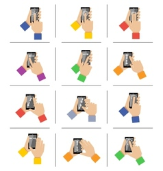 Smartphone touch gestures vector image