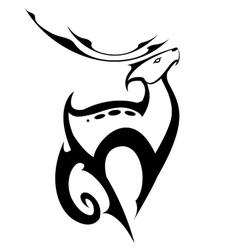 standing deer in symbol style vector image vector image
