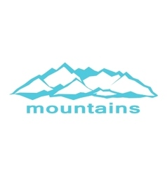 Blue mountains A symbolic image vector image