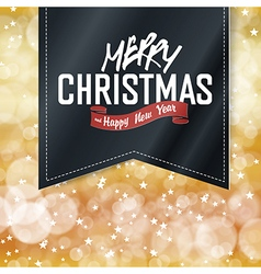 Merry Christmas lettering on Vintage black Label vector image