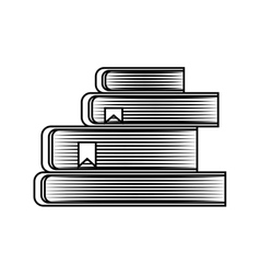 text book pile isolated icon vector image