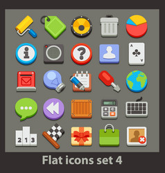 Flat icon-set 4 vector