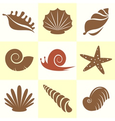 Shellfish and snail vector