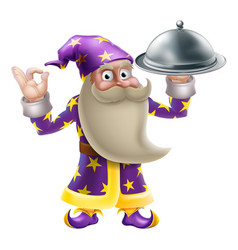 wizard chef or cook vector image