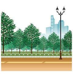 City park path scene vector