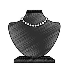 female manequin with necklace vector image