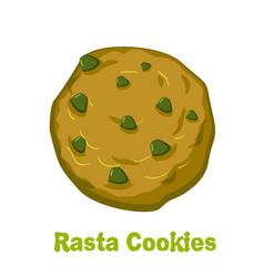 rasta cookie marijuana and biscuit reggie food vector image