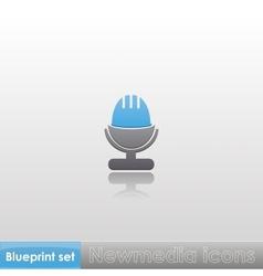 Blueprint set - Newmedia icons vector image