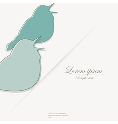 Template of brochure with stylized bird vector