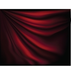 Fragment dark red stage curtain vector