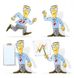 set of cartoon businessman vector image