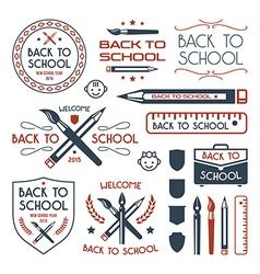 Back to school badges set vector image