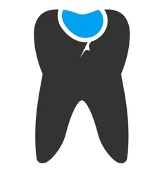 Tooth caries icon vector