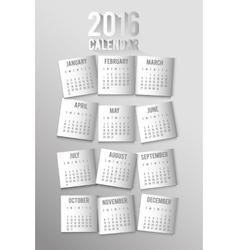 New year calendar schedule vector