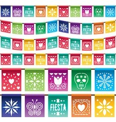 Mexican paper bunting vector