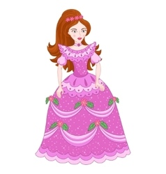 Beautiful brunette princess in vector