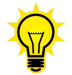 Shining light bulb icon vector