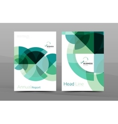 Clean geometric design annual report cover vector