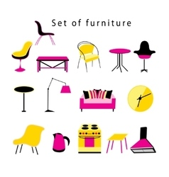 Different furniture and items in the home vector