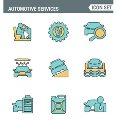Icons line set premium quality of automotive vector