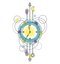 Abstract clock symbol vector