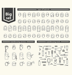 Big set - barbershop vector