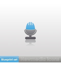 Blueprint set - Newmedia icons vector image