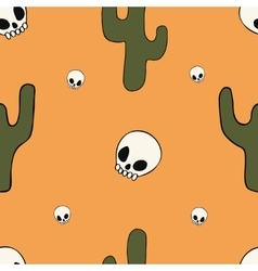 Cartoon seamless pattern with different objects vector image vector image