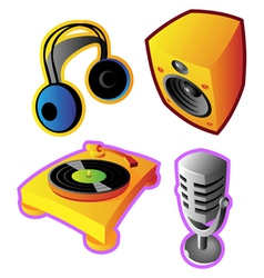 Colorful music and sound vector image vector image