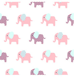 cute elephant cartoon baby seamless pattern vector image