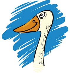 Funny farm goose vector