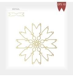 Geometrical gold decorative round figure ornament vector image