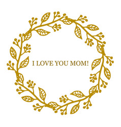 Greeting card for mother s day vector