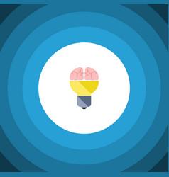 isolated inspiration flat icon idea vector image