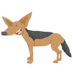 Jackal cartoon animal character vector