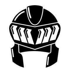 knight helmet medieval icon simple black style vector image vector image