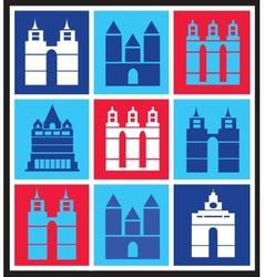 Mosaik city vector image