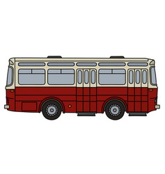 old dark red bus vector image vector image