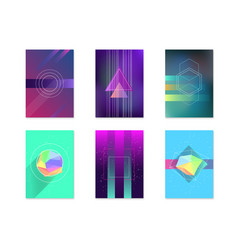 posters card witch color abstract geometric vector image