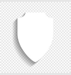 Shield sign white icon with vector