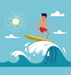 surfer riding the wave vector image