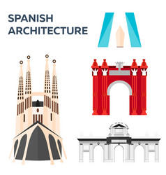 Travel to spain spanich architecture vector