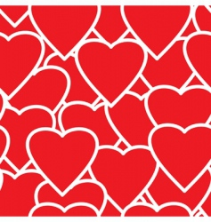 valentines day abstract seamless background vector image vector image
