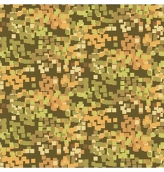 Pixelated sand camouflage seamless pattern vector