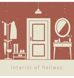 Hallway interior vector