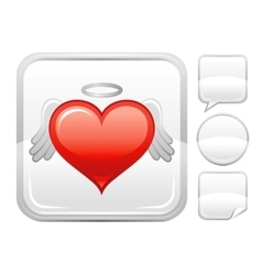 Happy valentines day romance love heart angel vector